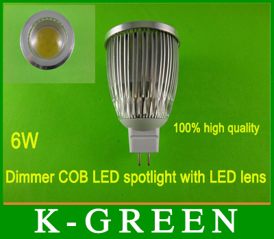 hot sales dimmer mr16  6w cob led spotlight with LED lens high lumen new and high quality GU10 MR16 E27 E14 6w COB LED Spotlight<br><br>Aliexpress