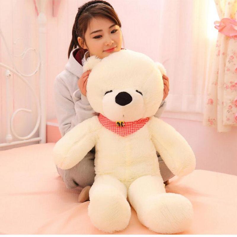 100cm High Quality Squinting Lovely Hug Teddy Bear Large Bear Giant Soft Teddy Bear Plush Toy Gift Plush Ted Plush Teddy Bear(China (Mainland))