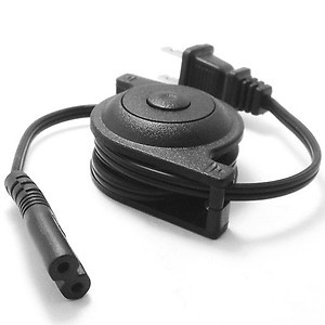 IEC320 C7 USA Plug Power Supply Retractable Cable 2 Prong 2 Outlets Laptop Cord(China (Mainland))