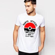 New 2016 Men Sports Casual T Shirt game pokemon go Summer Camisetas anime Men's T-shirt Letters Cotton Tee Famous Brand Clothing