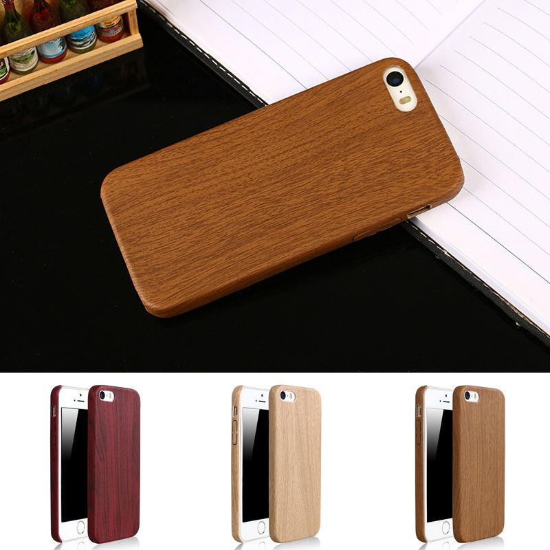 fashion ultra thin retro vintage wood pattern soft TPU PU leather slim phone Protective back cover case for iphone 5 5S SE(China (Mainland))