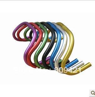 Vintage Drop Bar Anodized Blasted Handlebar Track Road Fixed Gear Single Speed Bike 25.4mm Auminum colorful High speed - Yue stor store