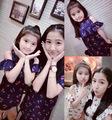 2016 Korean Girls Summer ruffled strapless dress and dress princess skirt dress child Maria Tung