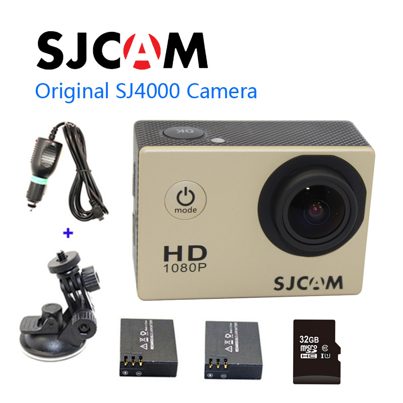Free shipping!!Original SJ4000 Diving 30M Waterproof extreme Helmet 1080P Full HD HD Sport Action Cam+Extra 2pcs batteries