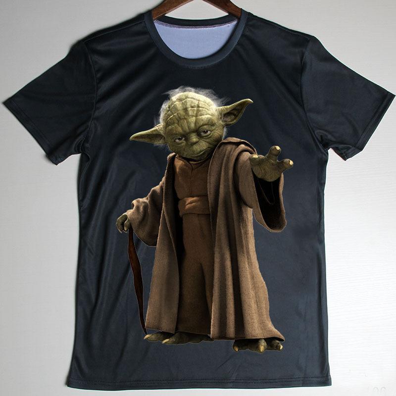2016 Cool personlized star war Yoda t shirts men star war Yoda t shirt