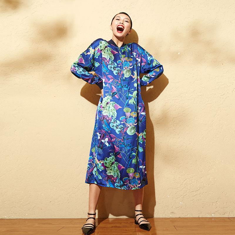 PLUS SIZE New Design Women Printing Dress Summer Ethnic Long Maxi Casual Retro Cotton Vestidos Dashiki Dress Vintage Abaya D004(China (Mainland))