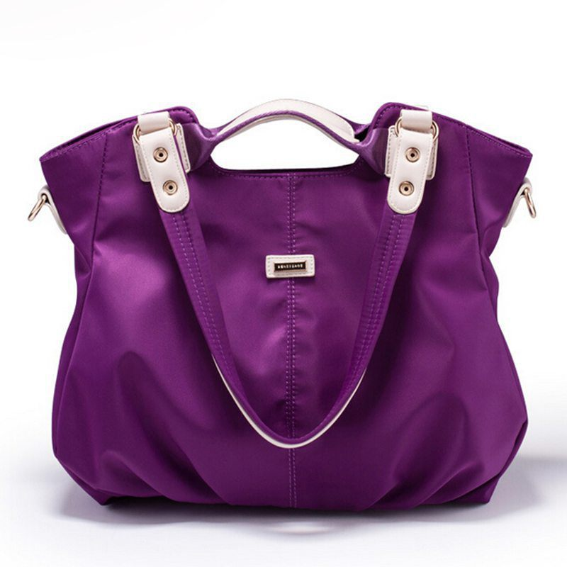 new purple ladies ruched shoulder bags waterproof brand bolsos women high quality tote bag fashion designer handbags S14-68(China (Mainland))