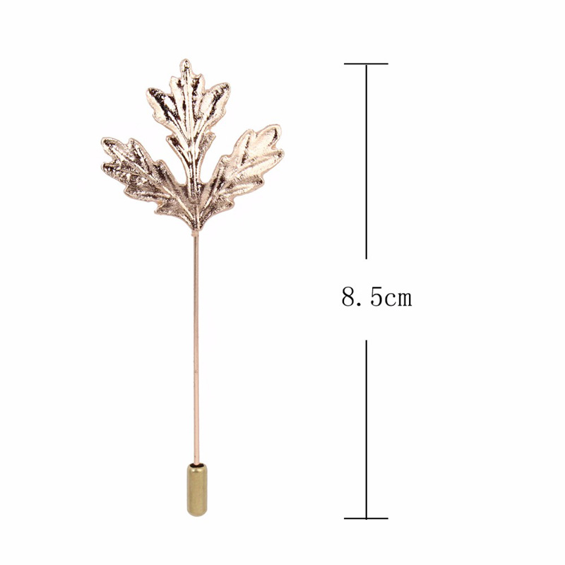 Leaves Brooch For men Costume Lapel Neck Gold Plaid Lapel Pin Silver Jewelry Accessories broches bijou safety pin broschen 12