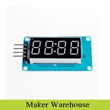 1 шт. 4 бит TM1637 цифровой трубки из светодиодов модуль дисплея и часы для Arduino из светодиодов бесплатная доставка