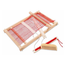 Baby Toys Pretend Play Toys Wooden Traditional Weaving Loom Childrens Wooden Toy Educational Gift Craft Wooden Weaving Frame(China (Mainland))