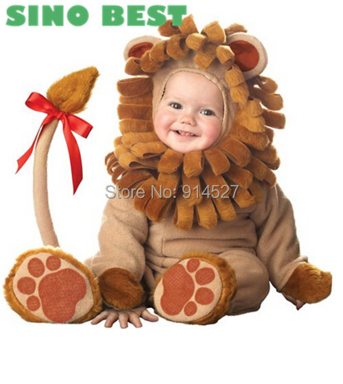 Cute Baby Lion Costumes for Infant Boys Girls High Quality Christmas Halloween Party Cosplay Clothes Clothing Gifts For Children(China (Mainland))