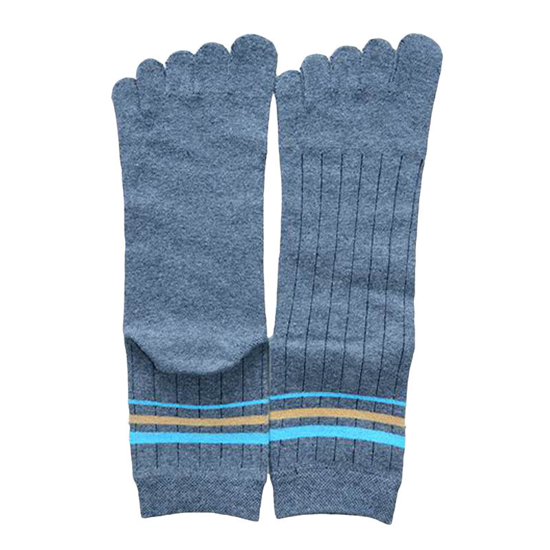 New Arrival 2017 Men Socks Autumn Winter Thick Cotton Middle Tube Five Finger Toe Socks Adult Male Free Size Socks N10