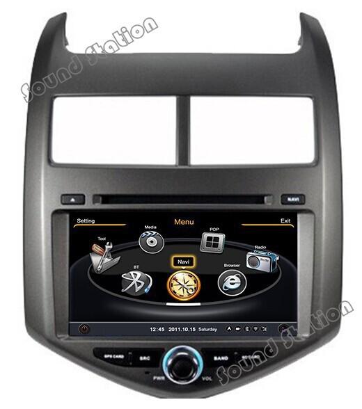 For Chevrolet Aveo Sonic Automotivo DVD Radio Stereo Automotive GPS Navigation Automobiles Media Auto Multimedia Car Audio Video(China (Mainland))