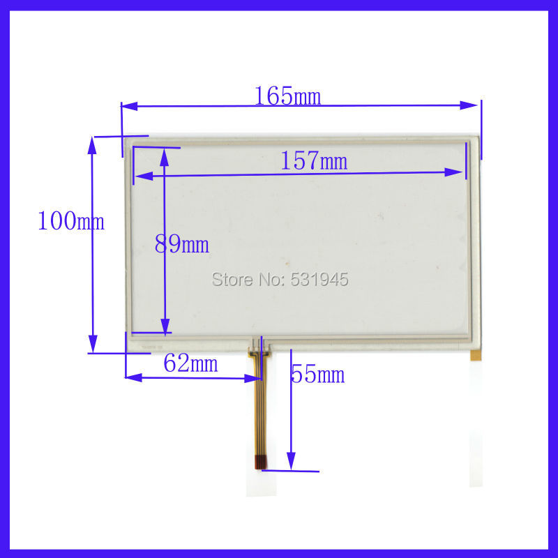 New 7 inch TOUCH Screen panels 165mm*100mm for GPS or commercial use 165*100 USE AT070TN90 Display for 7-inch GLASS(China (Mainland))
