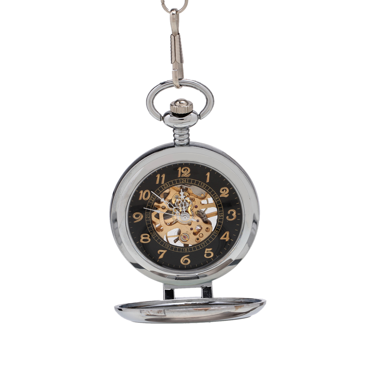 relogios mascu Vintage Antique Sliver Watch Roman Numerals Men Mechanical Pocket Watch Pattern Pendant With Chain
