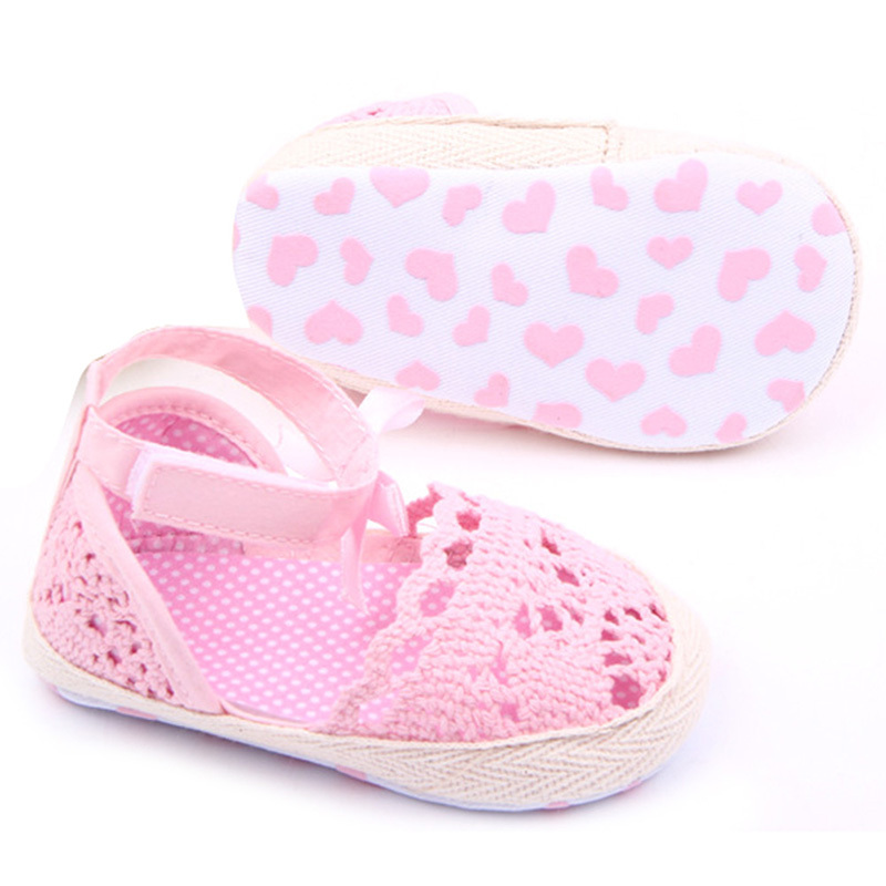 Baby Kids Girls Cotton Frework Bowknot Infant Soft Sole First Walker Toddler Shoes - -Sunflower- store