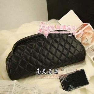 Small clutch genuine leather dinner women's handbag sheepskin day clutch bag