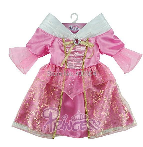,Children movie girls Sleeping Beauty purple Aurora princess dress ,Cosplay party costume - HH Party Costume Store store
