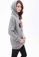 новый бренд моды 2015 женские кофты с капюшоном куртки и Пиджаки Толстовки женщины дамы моды мультфильм мыши пальто зимняя одежда k5861