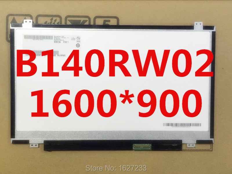 Wholesaler new in stock for notebook &Papaer portable LED B140RW02 V.0 14.0inch 1600*900(China (Mainland))
