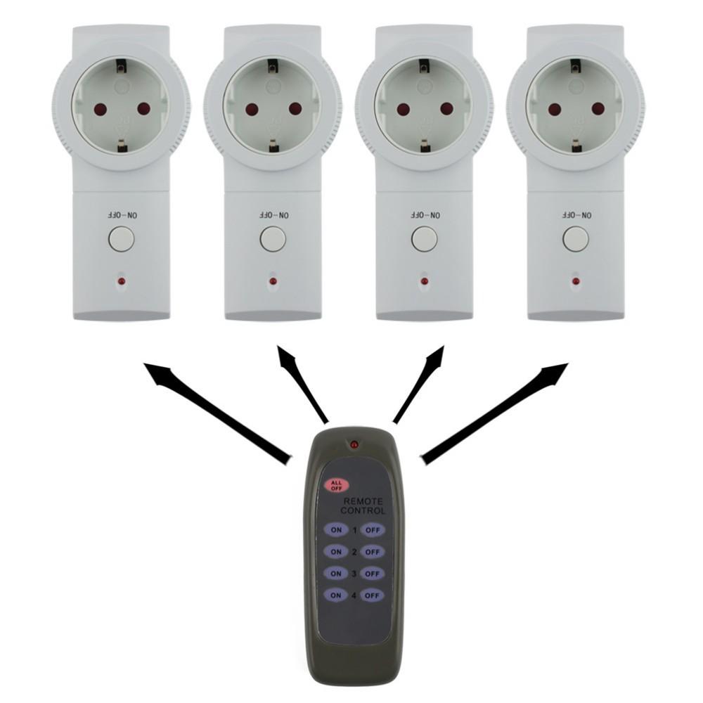 Пульт дистанционного управления для 4 розеток с переключателем фото