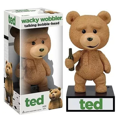 New 15cm PVC Funk Pop Cute Ted teddy bear wacky wobbler talking bobble-head Doll Action figures toy for children(China (Mainland))