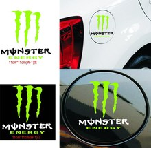 2 sets/Lot Monsters Paw reflective Car styling On Fuel Tank Car Decals Car Decor Cool Gost Car Sticker LY4005