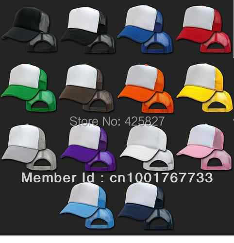 2015 New Arrival Freeshipping Adjustable Adult Solid Casual Hats for New Classic Trucker Baseball Golf Mesh Cap Hat -17 Colors(China (Mainland))