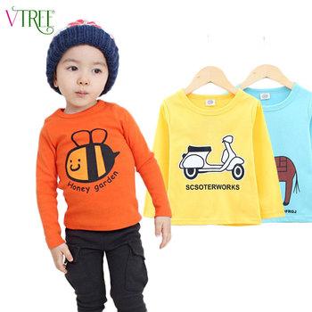 2016 spring t-shirts for girls long sleeve girl shirts cartoon boys t-shirt cotton children t shirts girls tops baby tees