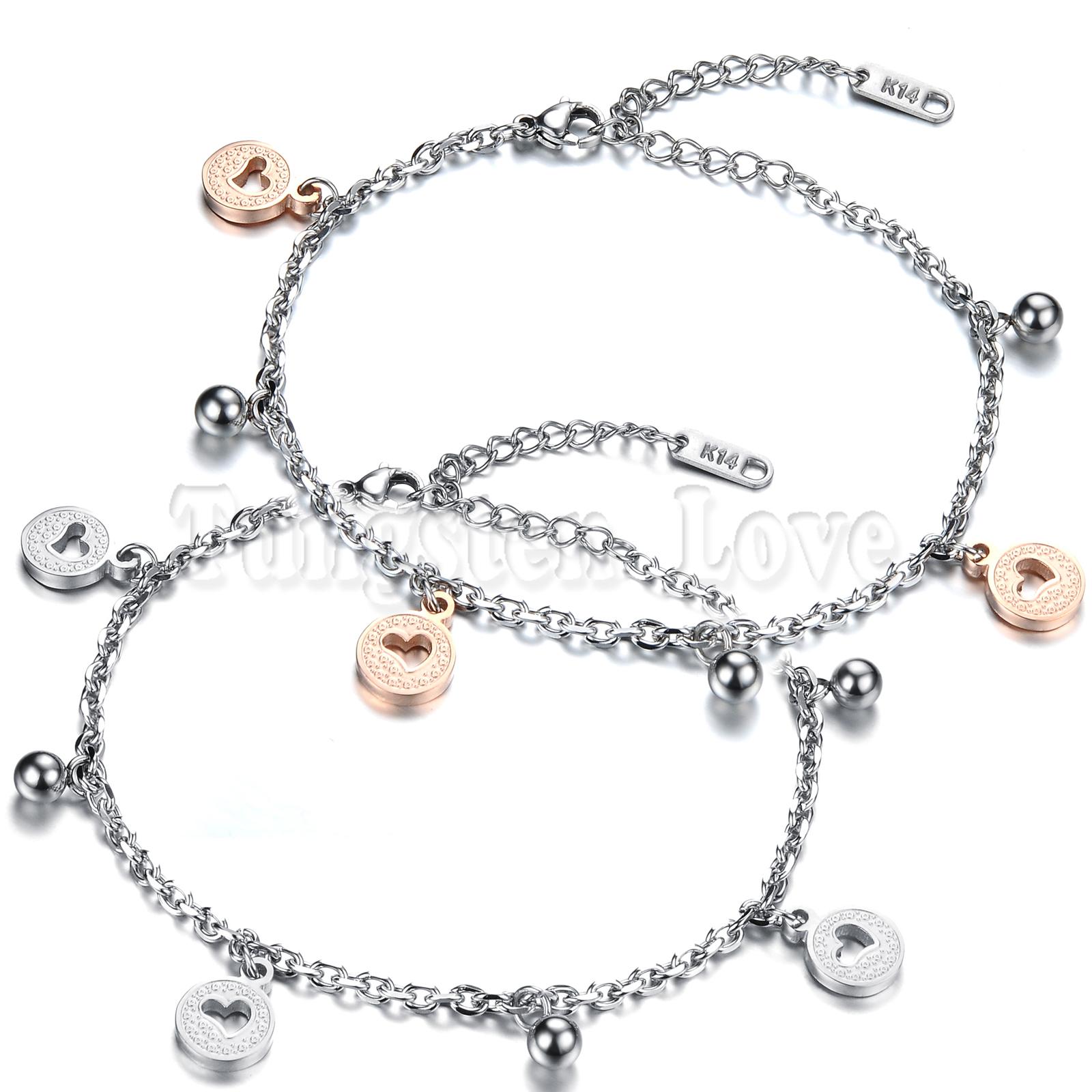 Fashion Pulseras Silver Rose Gold Heart Beads Bracelet Charm Bracelets for Women Bracelets & Bangles pulseira feminina(China (Mainland))