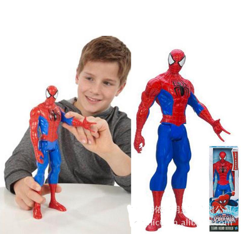 Toy Figures For Boys : Genuine spiderman d doll model titan hero large marvel
