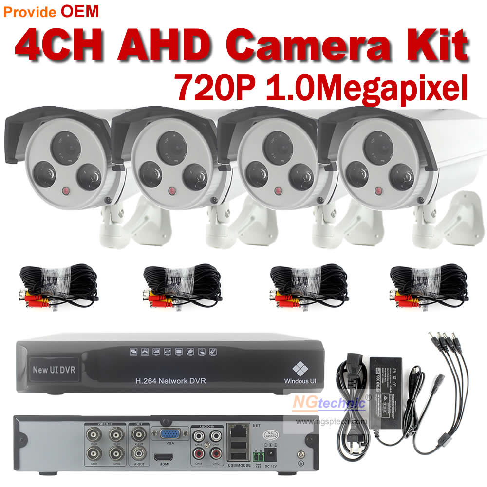 NEW HD 4ch home Security video surveillance system 1MP 720p CCTV AHD DVR KIT 4pcs IR day night vision security camera System<br><br>Aliexpress
