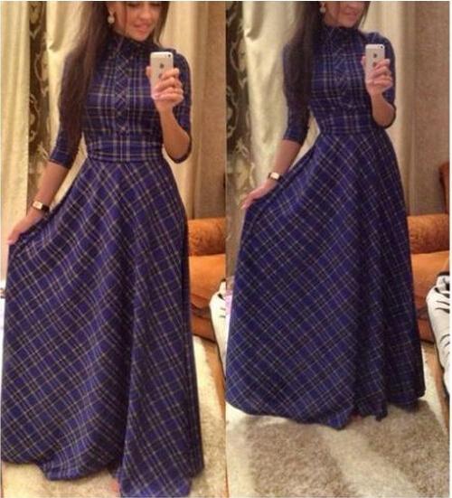Long cotton maxi dresses for women