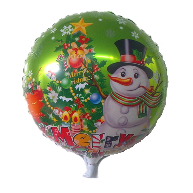 Free shipping aluminum round balloon snowman Christmas party balloons wholesale children's toys(China (Mainland))