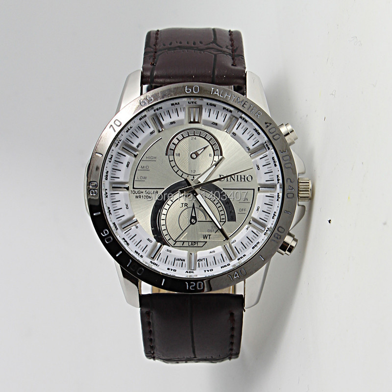 In 2015 the new mens sports fashion leisure clothing leather watch clock, quartz watch new products.<br><br>Aliexpress