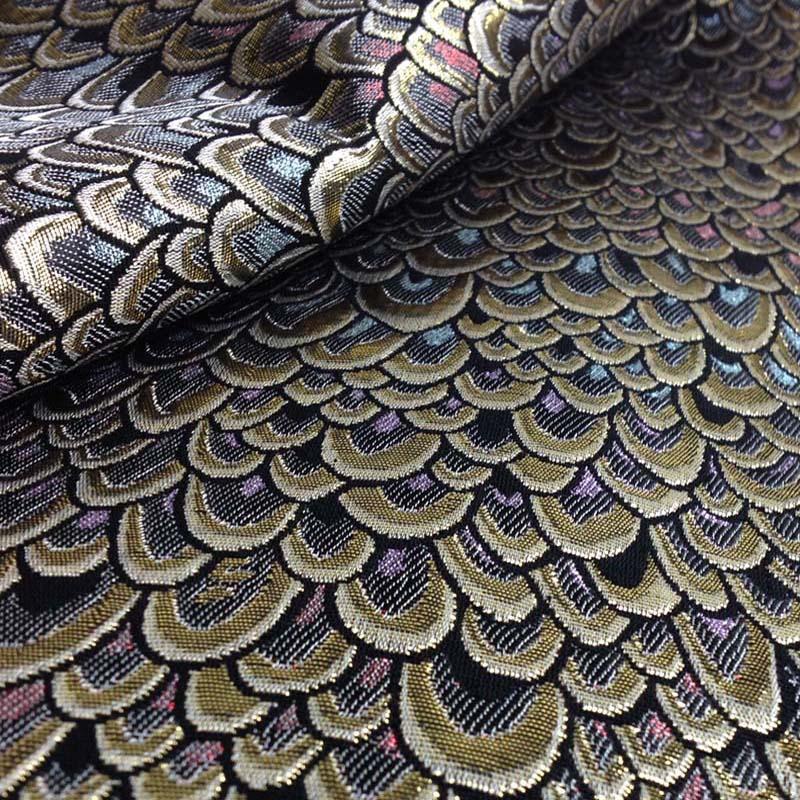Metallic Peacock Jacquard brocade Dress Fabric Cloth Meter Tecido ...