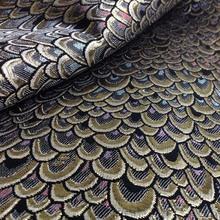 Metallic Peacock Jacquard brocade Dress Fabric Cloth Meter Tecido ,Dress Overcoat Jacket Home Decor Upholstery Sewing Material(China (Mainland))