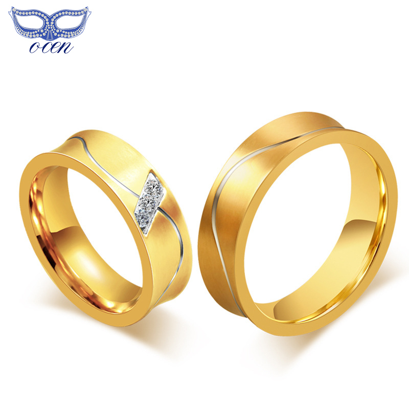 Gold plated wedding rings 2015 fashion rings for women and men jewelry high q