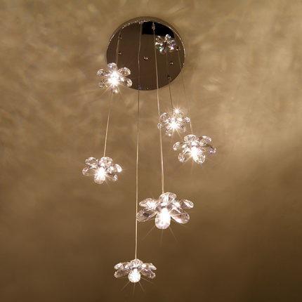 Bella cristallo asfour fiore di gelsomino ristorante lampadario ...