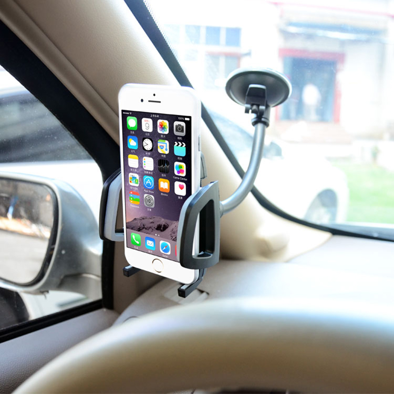 Long Gooseneck Universal Car Windshield Sucker Mobile Cell Phone Mount Holder In Car Suporte Gps Telephone Voiture(China (Mainland))