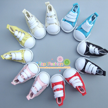 Buy One pair Assorted Color 5cm Canvas Shoes BJD Doll Fashion Mini Toy Shoes Sneaker Bjd Doll Shoes Russian Doll Accessories for $2.05 in AliExpress store