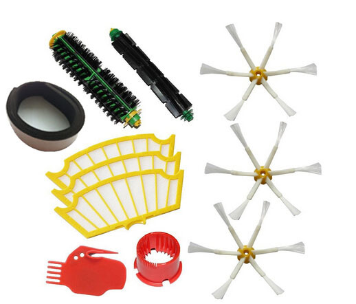 11 pcs/lot Brushes Pack Kit for iRobot Roomba 500 Series Roomba 510, 530, 535, 540, 560, 570, 580, 610 Vacuum Cleaning Robots(China (Mainland))