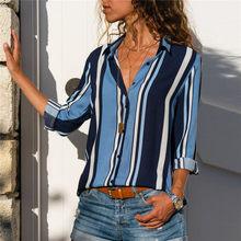 Blusas 2019 Da Forma das mulheres Manga Comprida Turn Down Collar Camisa Escritório Chiffon Blusa Camisa Casual Tops Plus Size Blusas Femininas(China)