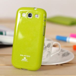 New fashion candy color  Soft protection shell case with glitter powder for samsung I9300 galaxy s3 free shipping10pcs/lot