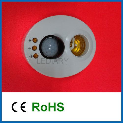 LED bulb/light adjustable E27 holder socket/lamp holder with automatic body infrared IR sensor PIR motion detector AC170V-250V(China (Mainland))