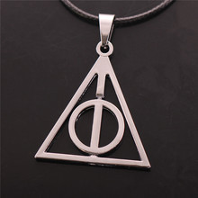 Harry Potter Necklace Luna triangle Deathly Hallows can rotate Necklace selling high-quality version(China (Mainland))