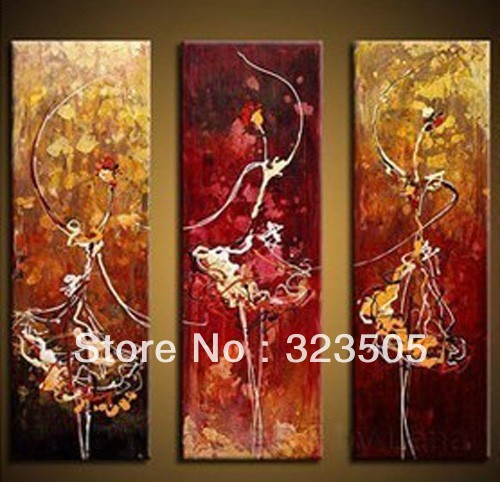 3 panel decorated acrylic canvas wall art decor modern for 3 panel painting