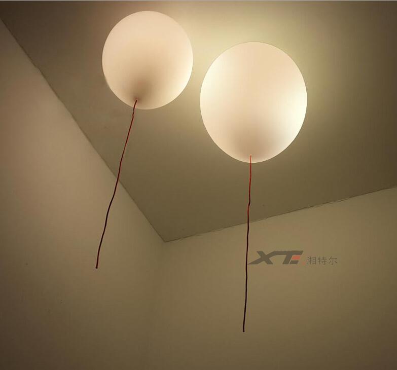 Modern Kids Bedroom Balloon Celing Lights Creative Glass Lampshade ...