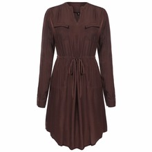 Buy Fashion Sexy Elegant Spring Autumn Winter Long Sleeve Women Shirt Dress Female Lady Work Tunic Clothing Clothes Mori Girl 2017 for $12.38 in AliExpress store