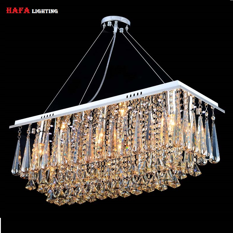 chandeliers dining room Rectangle Crystal Pendant chandelier Light Fitting chandelier Crystal dining room lights bedroom Lamp(China (Mainland))